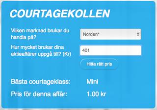 Courtagekollen - Nordnet