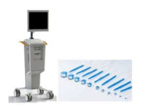 Bild på Medistims  TTFM-system (Transit Time Flow Measurement) med tillhörande sonder